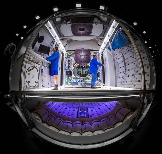 interiors of space motel by Lockheed Martin