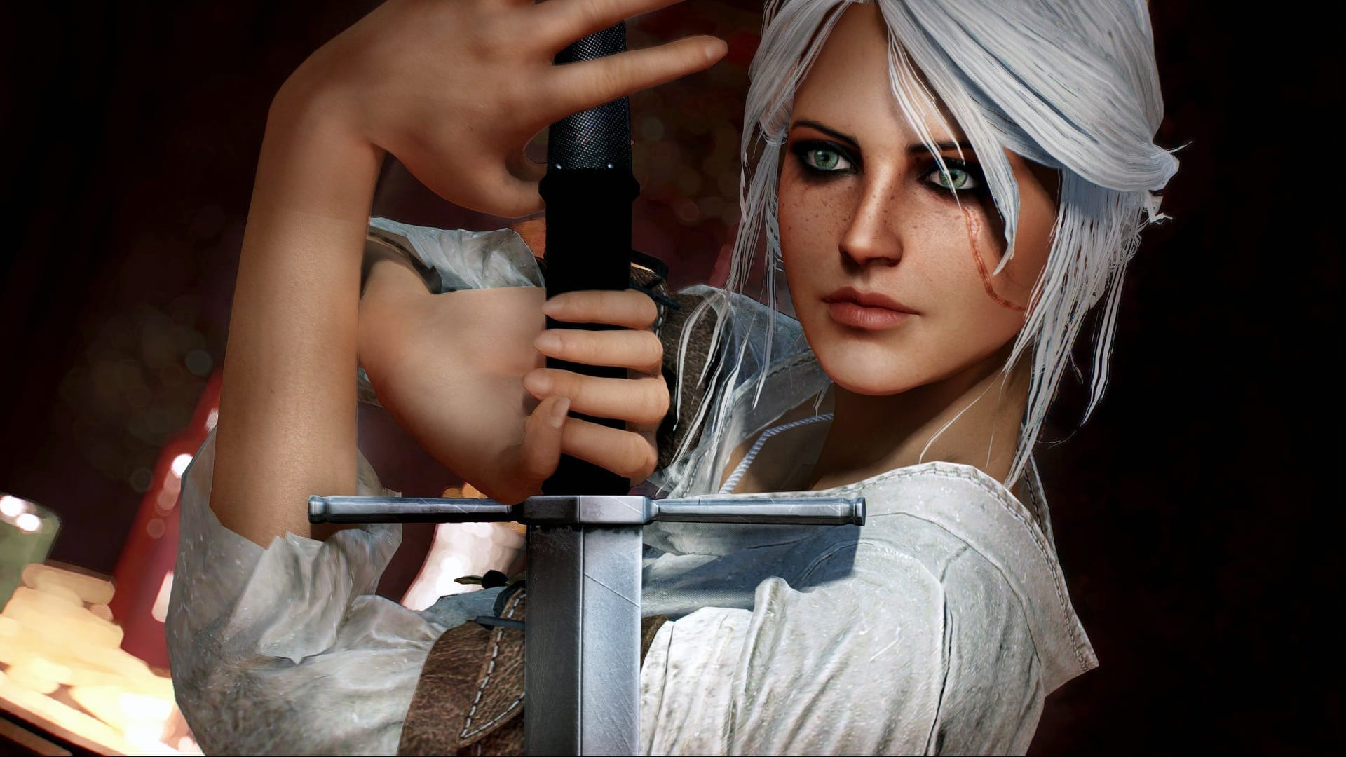 Witcher 3 Characters, Geralt and Ciri in Fallout 4