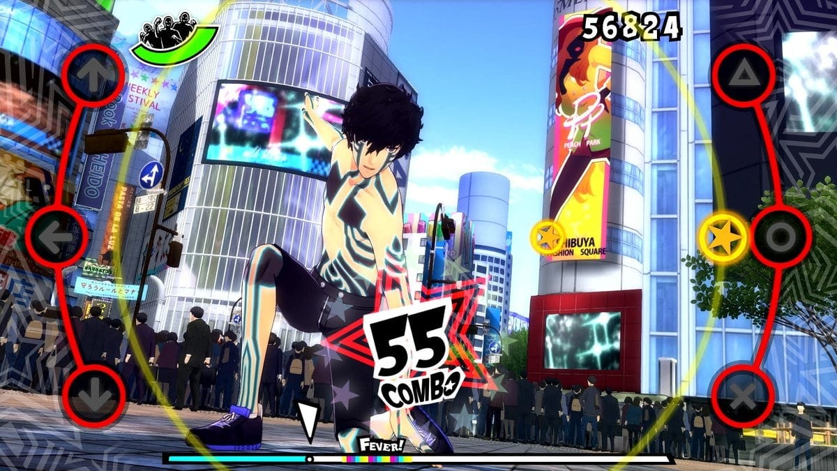 Screenshot from Persona 5: Dancing Star Night