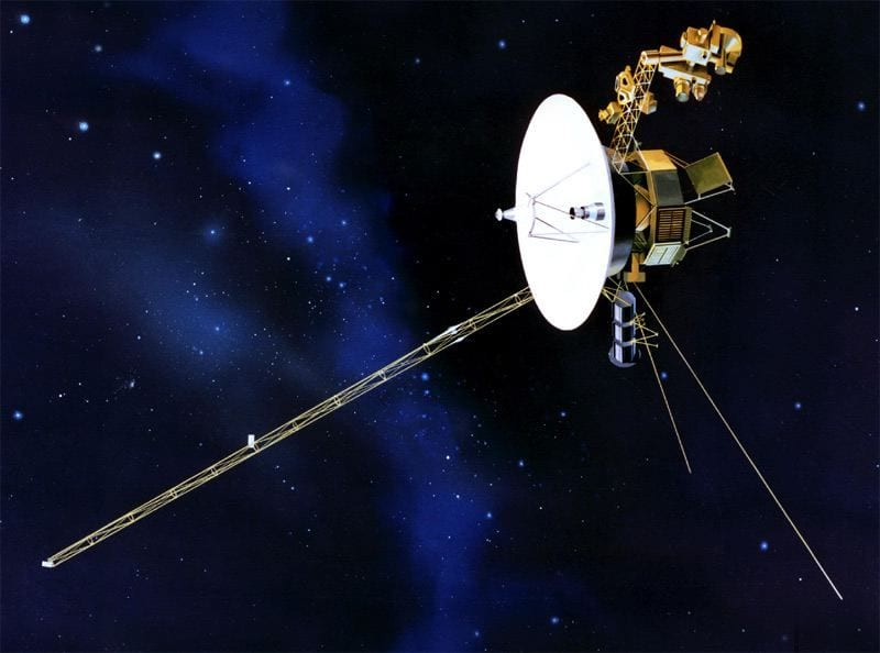 Voyager 1: The most distant spacecraft from Earth is 12.5 billion miles away. Continue reading to find out about the value of Pi needed to find the size of the universe!