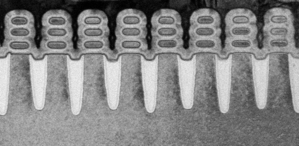TSMC 5nm chip with completed gate-all-around transistors