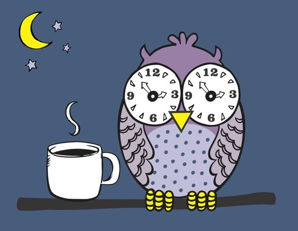 Lack of sleep, and in some cases, insomnia is a common side effect of caffeine consumption.