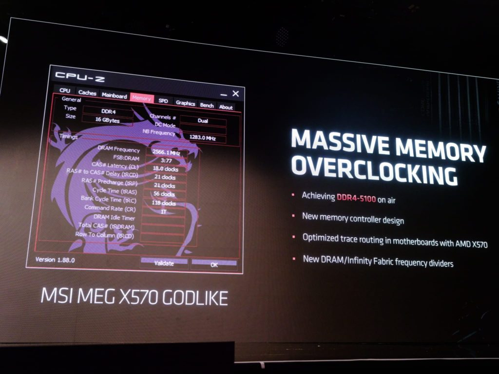 AMD's X570 Platform to Allow Memory Overclocking of up to 5100MHz on Air