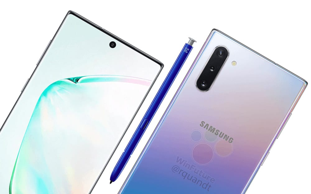 Renders Reveal Samsung Galaxy Note 10's Design – FCC Pictures Confirm Speculation
