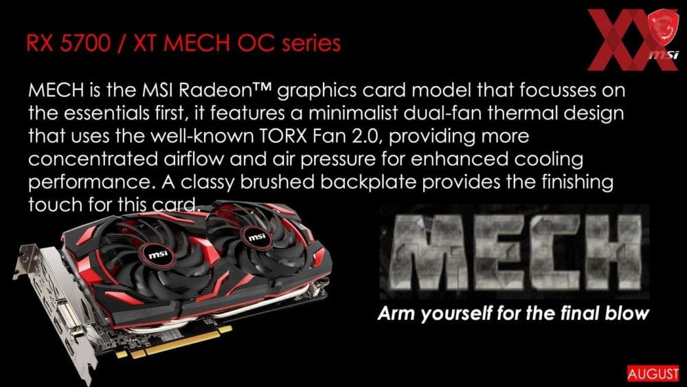 MSI To Launch 8 Different Radeon 5700 Series Cards In August