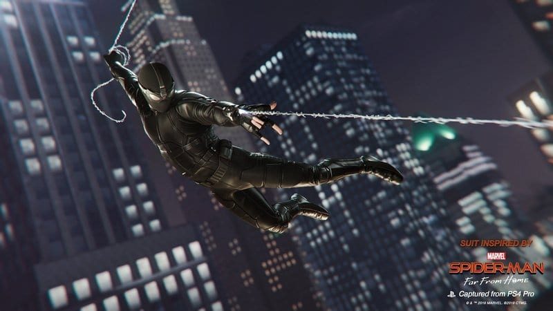 Noir Suit in Spider-Man PS4