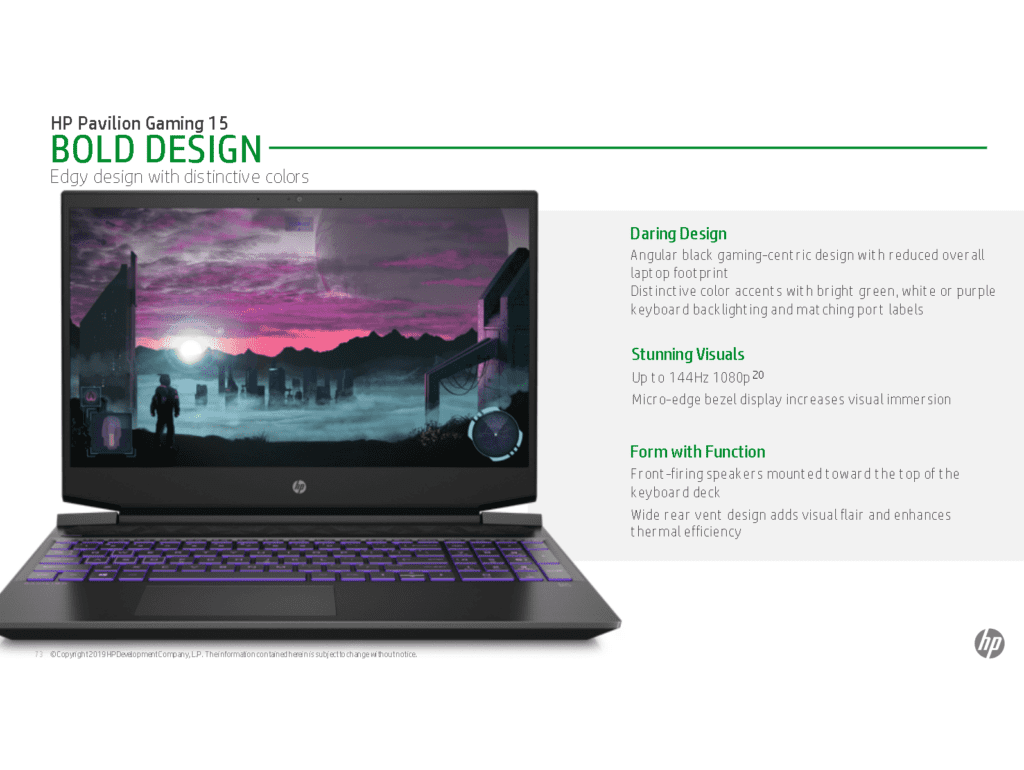 HP Pavilion Gaming Laptop with AMD Ryzen 3000 APUs (Picasso) Coming Soon