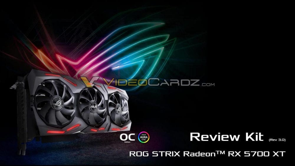 Review Kits Of The Asus ROG STRIX Radeon RX 5700 XT Leaked