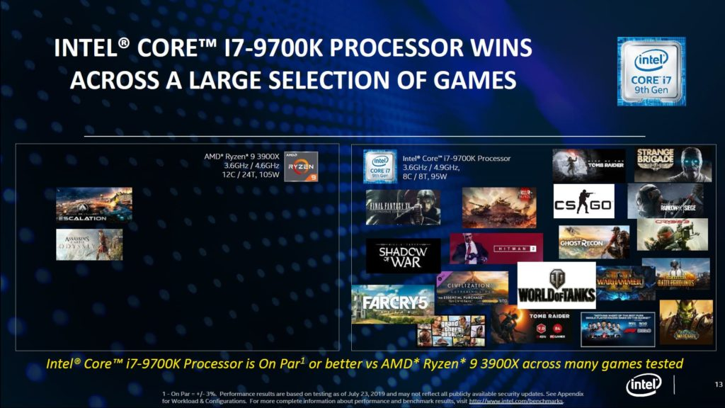 Intel (Tries to) Explain why they are better than AMD for Real-world Performance and Gaming