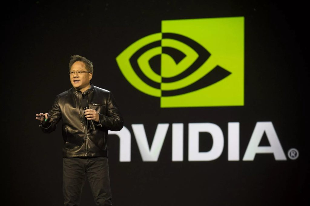 Jensen Huang announcing the NVIDIA RTX (Turing) cards with ray tracing support