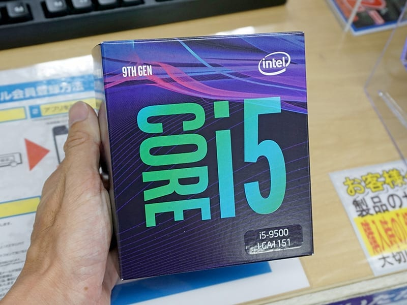 Intel Core i5-9500 launches in Japan with 6 Cores @ US$240