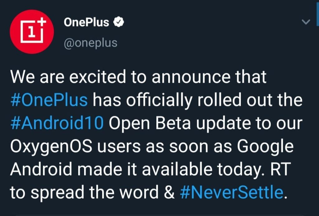 OnePlus Releases Android 10 Update (Open Beta) For 7 and 7 Pro - Guide