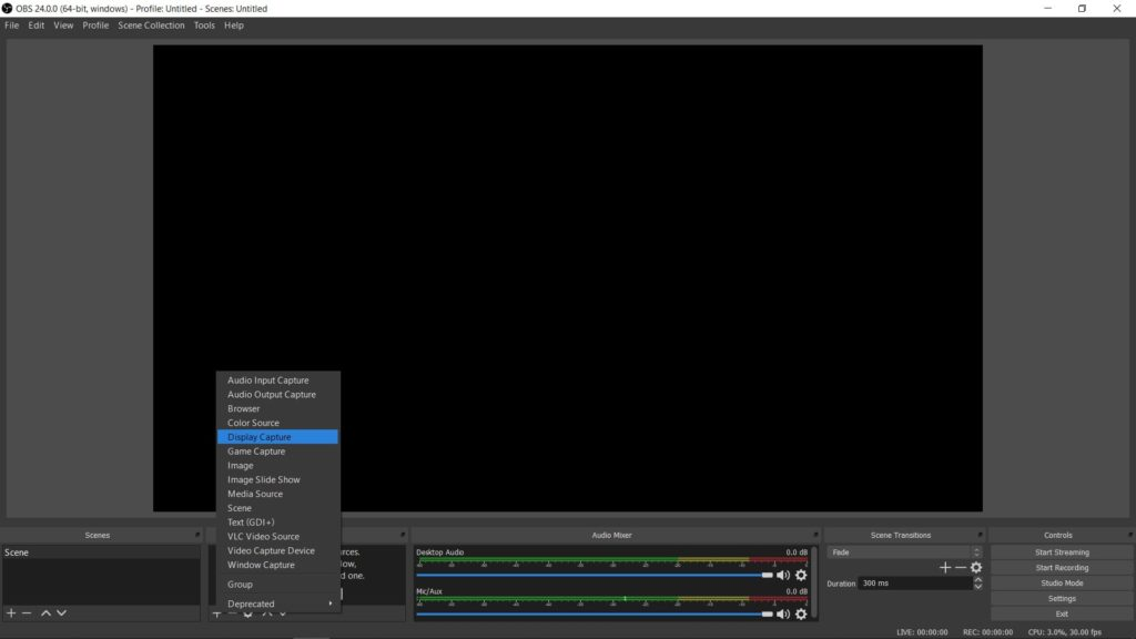 OBS Stream Sources