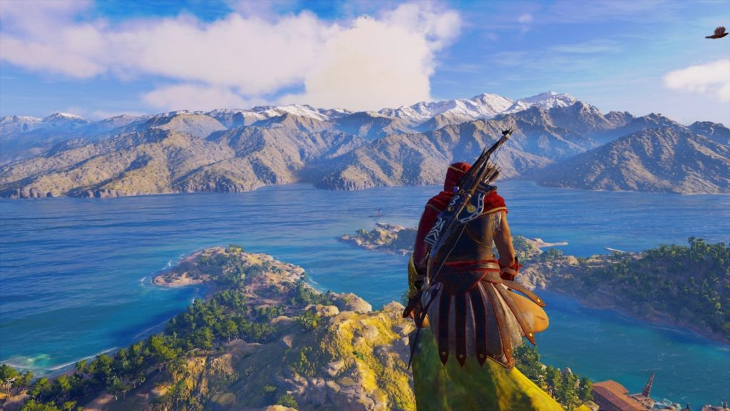 Admiring the view in Assassin's Creed: Odyssey