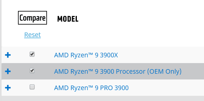 AMD Makes the Ryzen 9 3900 and Ryzen 5 3500X Official