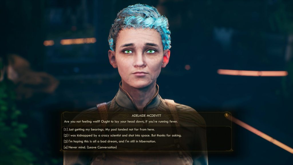 Dialogue choices in The Outer Worlds
