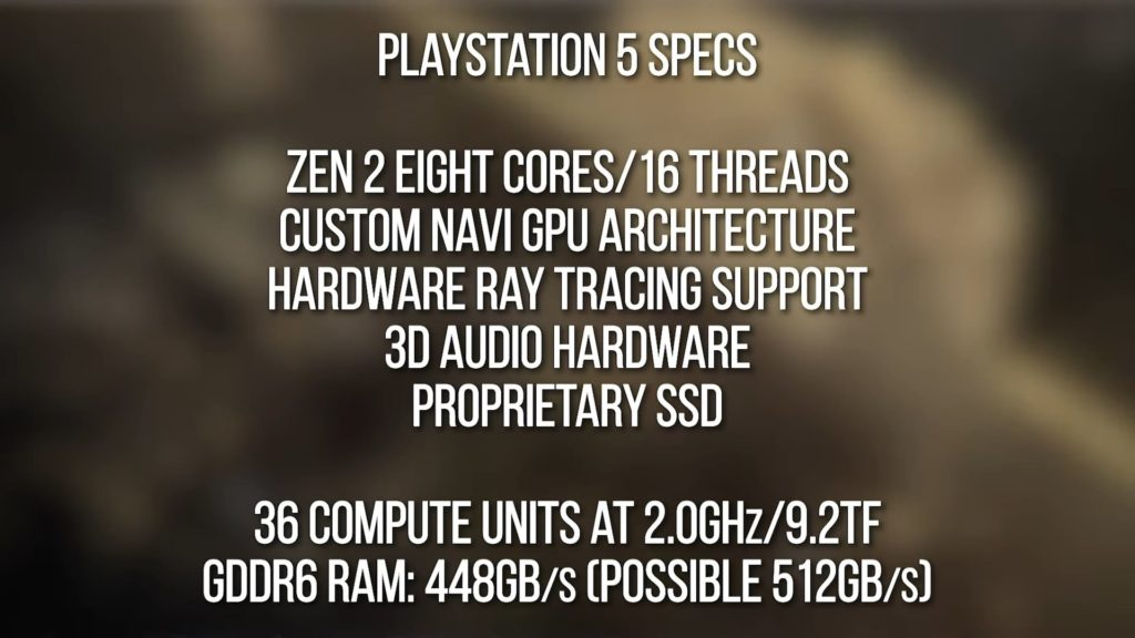 PS5 console spec leak