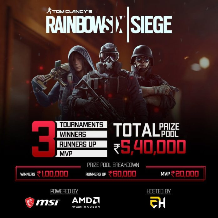 AMD & MSI Announce Rainbow Six Siege Tournament With Prize Pool of ₹5,40,000