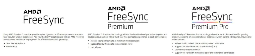 AMD Freesync Support