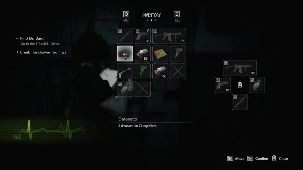 Inventory Management in Resident Evil 3