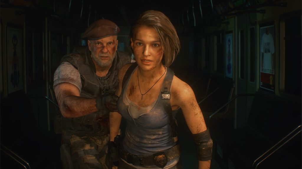 Jill Valentine and Mikhail Victor in Resident Evil 3