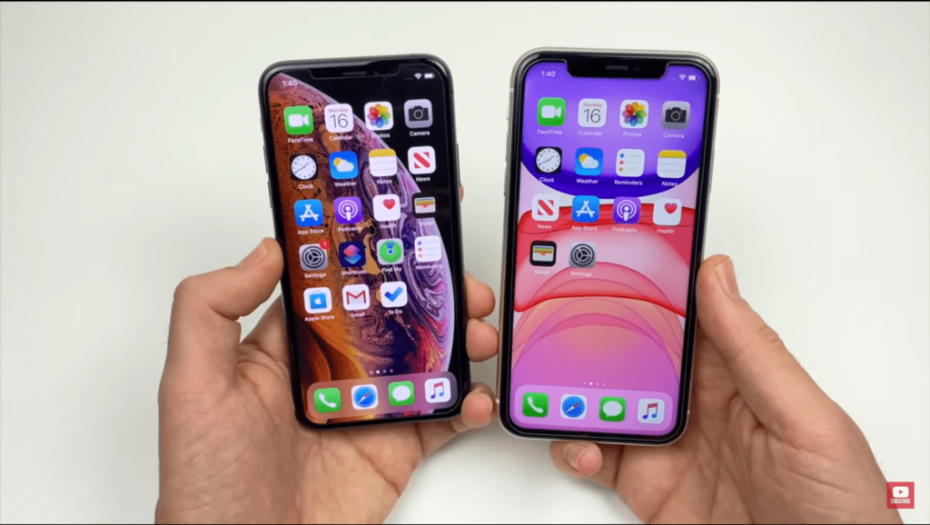 Apple iPhone XS vs 11