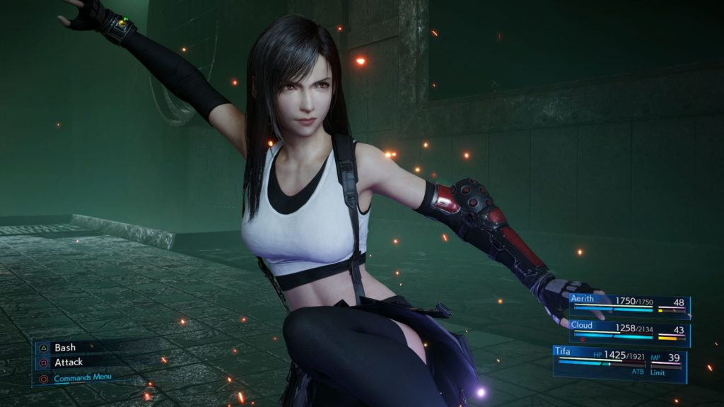 Final Fantasy Tifa fight stance