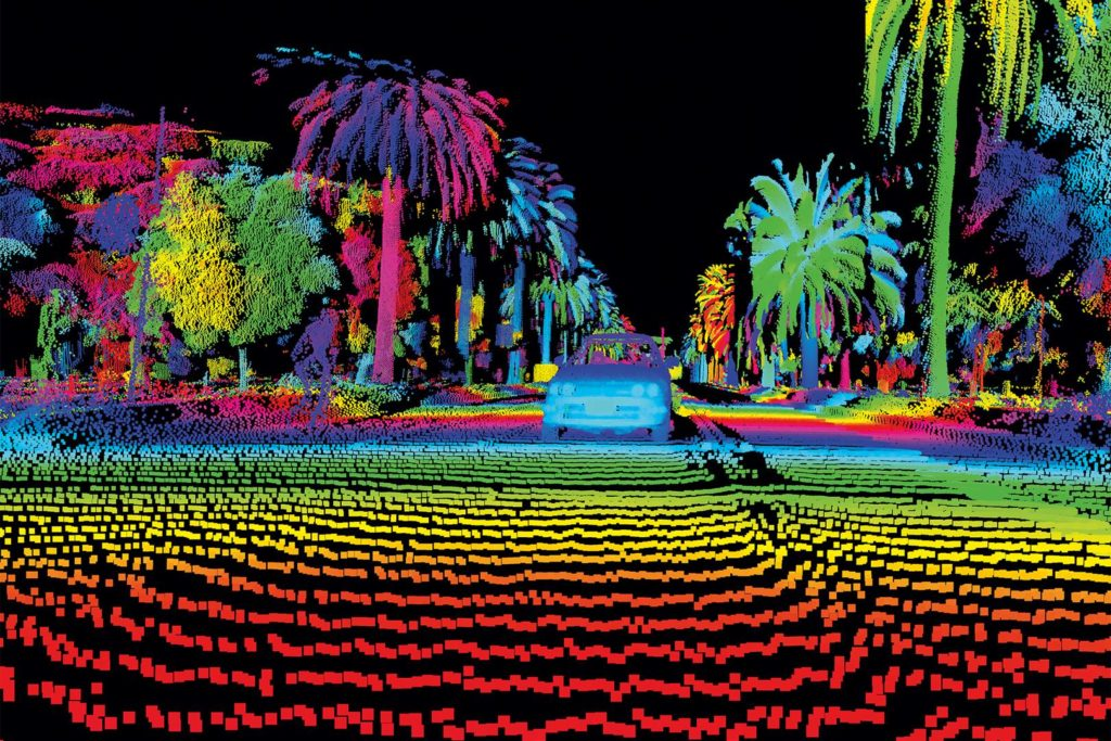 LiDAR sensor in action