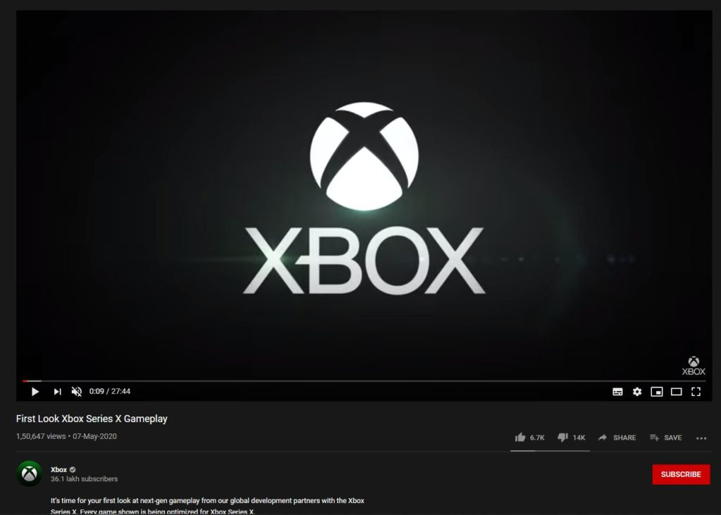 Inside Xbox Gameplay Reveal May 2020 Dislike Ratio