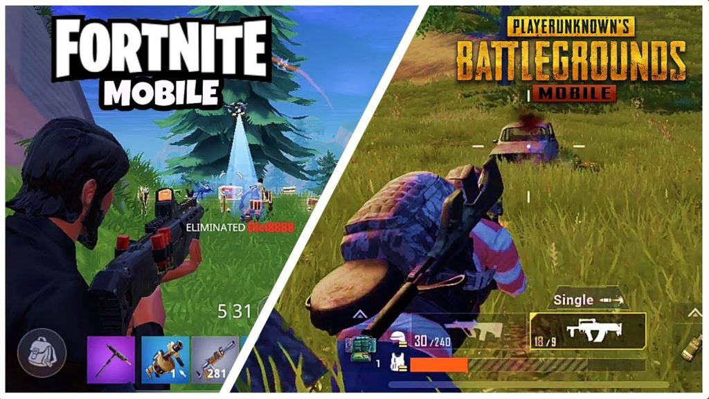 Fortnite Mobile vs PUBGM Gameplay