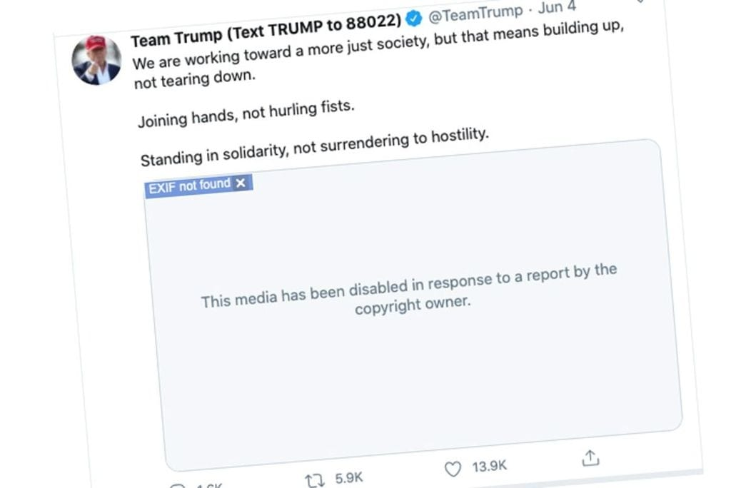 Twitter Just Disabled Donald Trump's Video Tribute to George Floyd