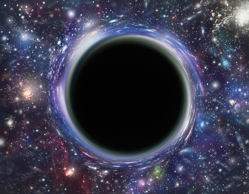 Black Holes are invisible.