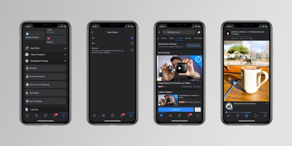 Facebook Dark Mode On the Way for Mobile Users