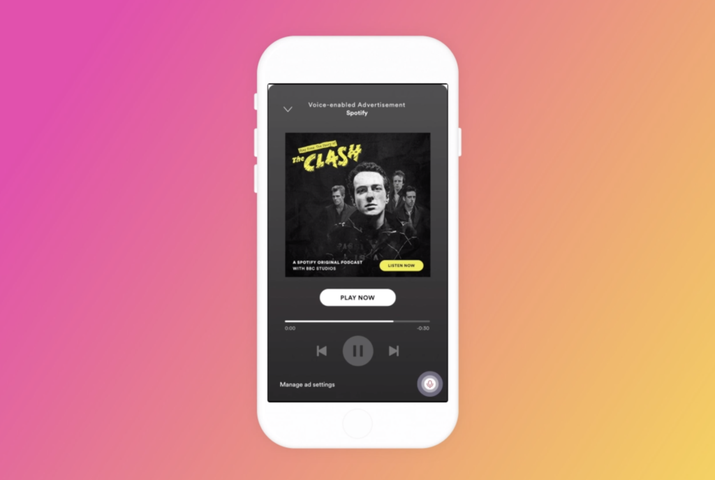 interactive spotify podcast ad