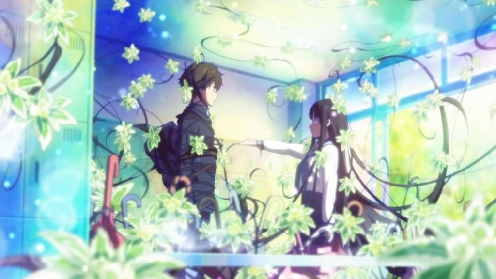 Hyouka employs incredibly beautiful imagery and animation to drive the story.
