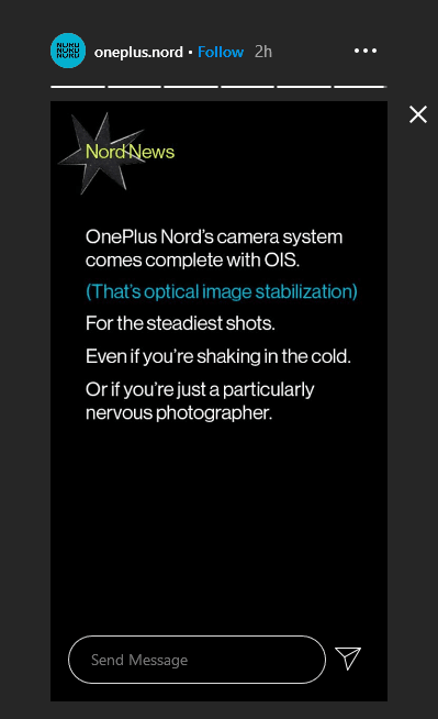 OnePlus Nord Camera