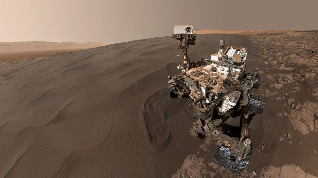 The data from the surface of Mars was collected through many modes.