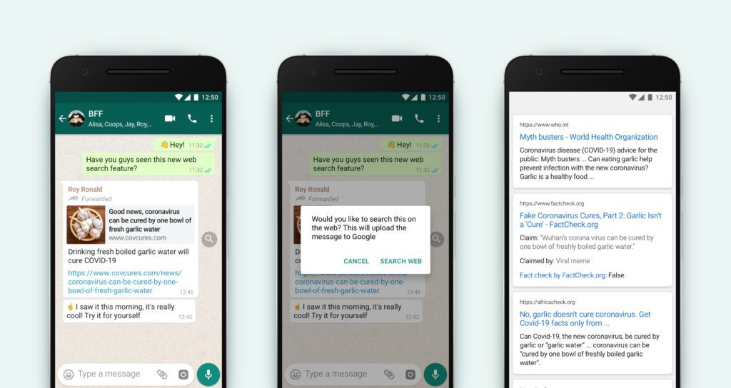 WhatsApp New Feature : Search The Web