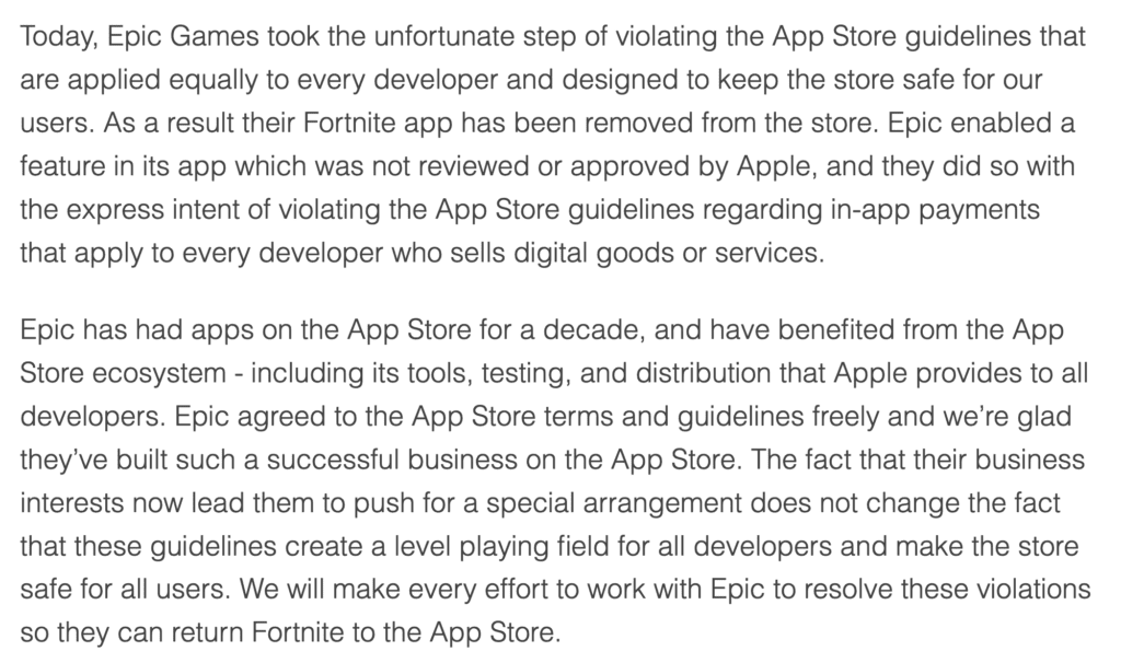 Fortnite Fiasco: Everything in Between Apple, Google, and Epic Games