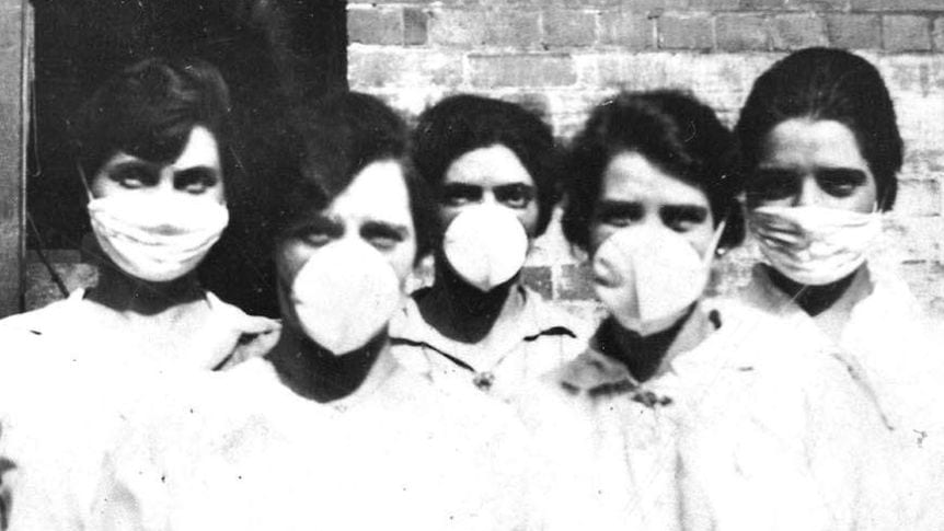 Masks during the 1918 influenza pandemic.