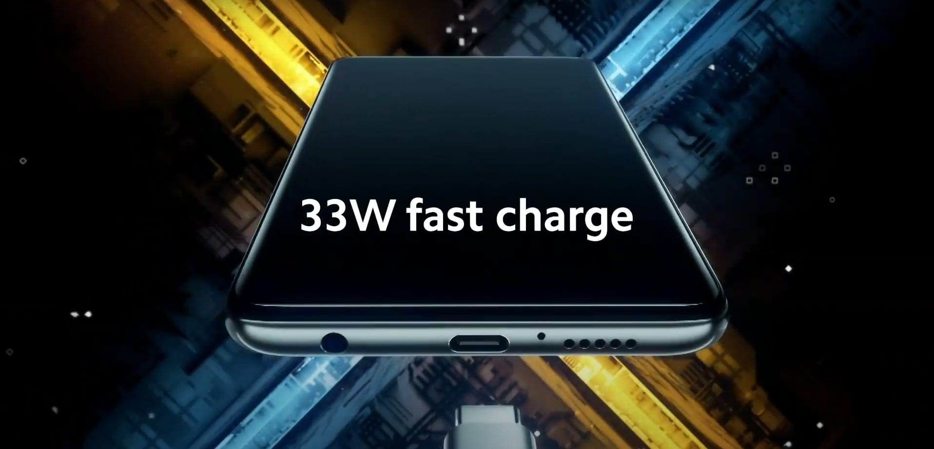 33W fast charge on the POCO X3
