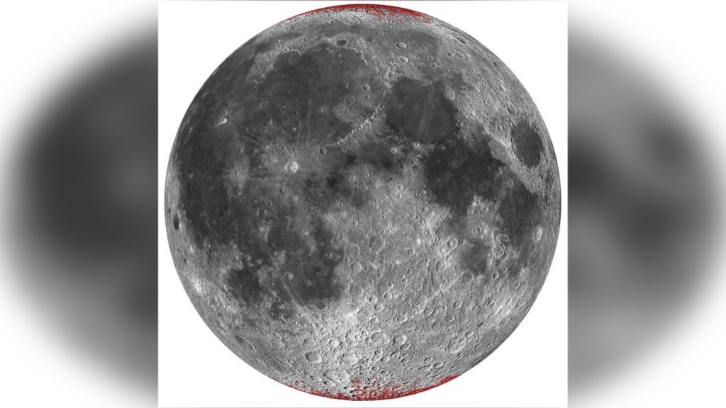 The Moon showed signs of rusting only on the poles.