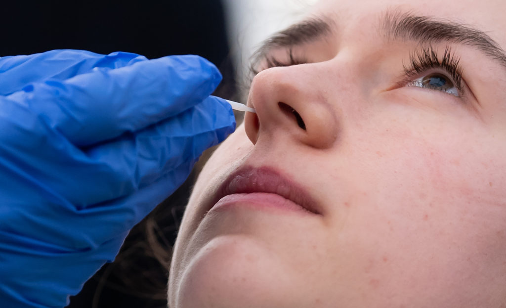 Potential Treatment for COVID-19 Targeting the Nose