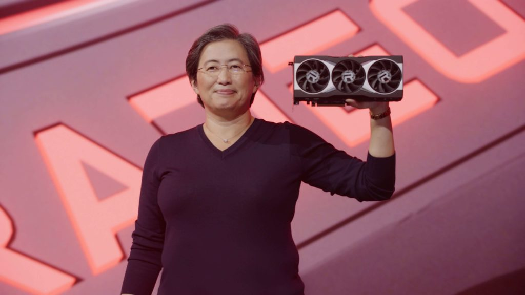 Dr Lisa Su with 'Big Navi' (RDNA 2)