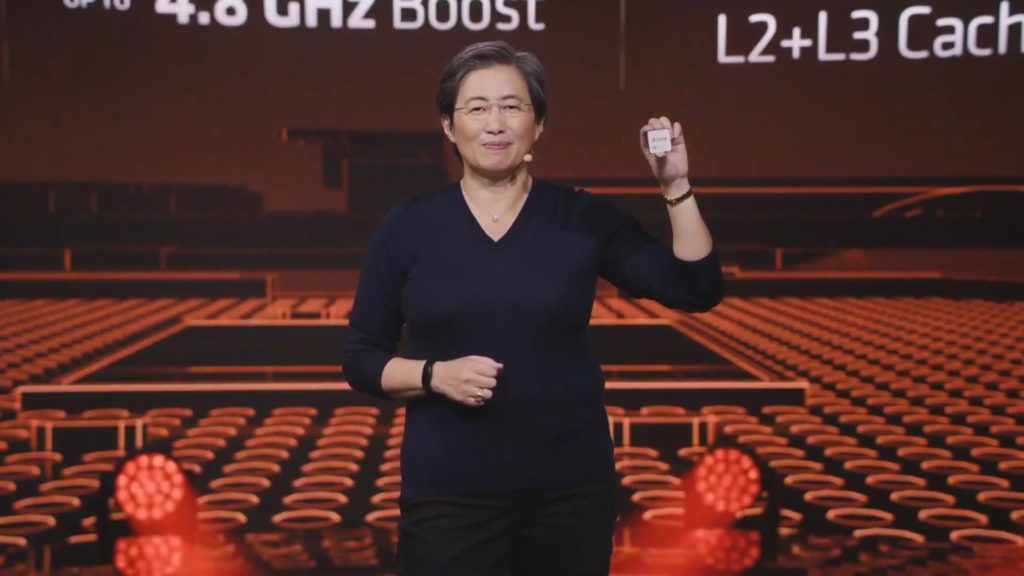 Lisa Su with AMD Ryzen 9 5900X