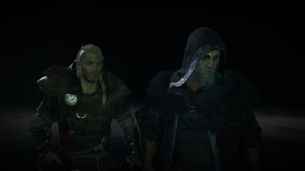Eivor and Odin in Assassin's Creed Valhalla