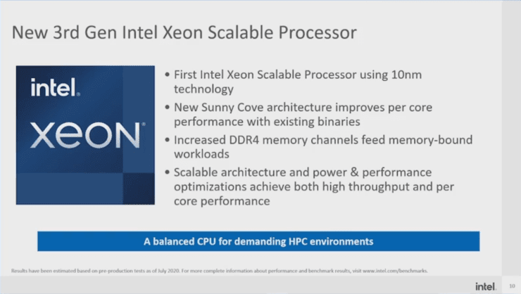 Intel Ice Lake Scalable Processor