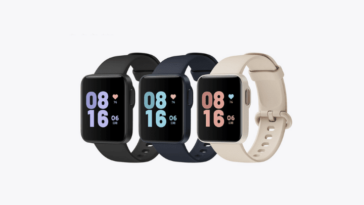Redmi Watch showing off 3 of its colours