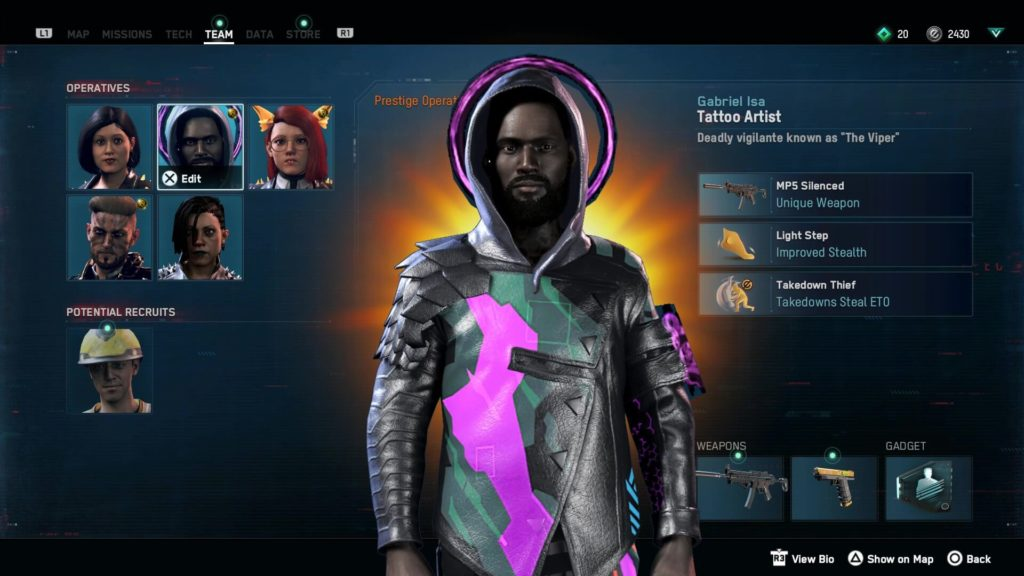 Watch Dogs Legion Character Select