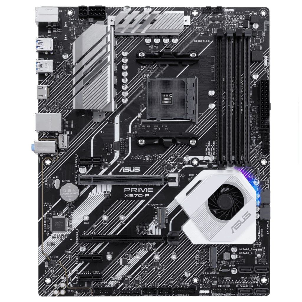 Ryzen Motherboard Guide: ASUS PRIME X570-P Front View